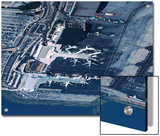 Aerial of la Guardia Airport in New York City