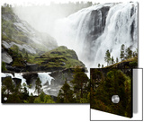 A Waterfall Near a Small Sami Fishing Village in Norway