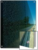 Vietnam Memorial with Washington Monument in Background  Washington  DC