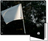 Close View of a Flag on a Golf Course  Groton  Connecticut