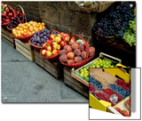 Assorted Fresh Fruits of Berries for Sale at a Siena Market  Tuscany  Italy