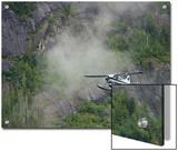 Float Plane against Granite Cliff  Alaska