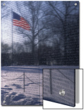 American Flag Reflected in the Vietnam Memorial  Washington  DC
