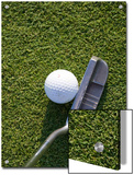 High Angle View of a Putter against a Golf Ball on the Green  Groton  Connecticut