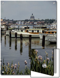 Boats Line the Docks of Annapolis  Maryland