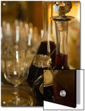 Two Decanters of Port Wine and Glasses