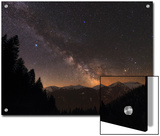 The Milky Way over Snow-Covered Austrian Alps in Tyrol  Austria