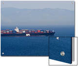 Large Container Ships Crossing the Santa Barbara Channel  California