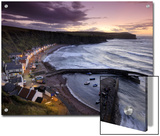 Pennan's Cottages and Boats on the Moray Firth at Twilight