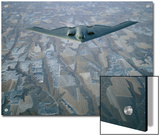 A B-2 Stealth Bomber Flies Above Southwestern Nebraska