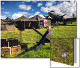 Replica WWII Army Airfield with DC-3 Plane  Medic Tent and Munitions
