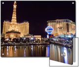 Reflections of Las Vegas Boulevard  the Strip  and the Paris Casino
