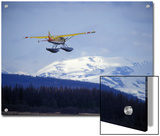 Floatplane Taking Off over the Kenai Mountains  Alaska
