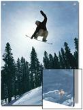 Snowboarder in Flight  Colorado