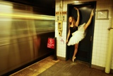 A Classic Ballerina Dances in the New York Subway