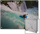 A Kayaker Running Spirit Falls  Little White Salmon River