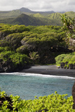 Hawaii  Maui  Hana  the Black Sand Beach of Waianapanapa