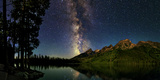 The Night Sky over a Lake in Grand Teton National Park
