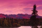 Sunrise Byers Lake Alaska Range Fall Southcentral Ak