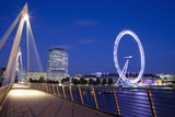 View of the London Eye from the Hungerford Bridge