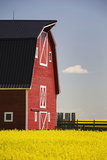 Front of a Red Barn