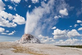 Yellowstone National Park  United States of America; the White Dome Geyser Erupting