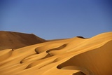 Sand Dune Against Clear Sky in Namib-Naukluft National Park