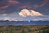 North Face of Denali at Sunset as Seen from the Wonder Lake Campground in Denali National Park