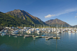 Scenic View of the Seward Small Boat Harbor on Resurrection Bay on a Sunny Day  Kenai Peninsula