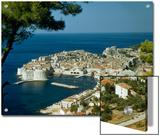 Scenic View of Dubrovnik Harbor and the Adriatic Sea