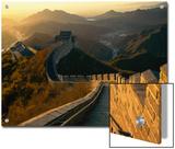 A Backlit View of the Great Wall of China at Juyongguan
