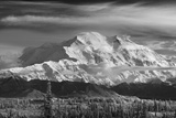 Infrared Image of Mt Mckinley's North Face (Wickersham Wall)  Denali National Park