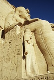 Statue of Ramses Ii and Wife at Great Temple of Ramses Ii  Abu Simbel