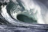 Hawaii  Big Powerful Wave Break