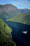 Aerial View of Float Plane Flying over Misty Fjords' *Punchbowl* in Southeast Alaska During Summer