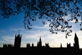 Houses of Parliament Silhouette  London  Uk Dosfotos