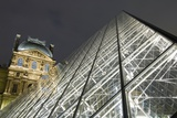 The Glass Pyramid and the Louvre at Dusk