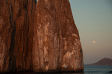 Moonrise Above Sleeping Lion Rock Off San Cristobal in the Galapagos