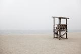 New England  Massachusetts  Cape Cod  Abandoned Lifeguard Station on Beach