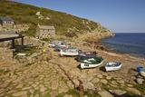 A Traditional Fishing Cove  Still Working the Seas  at Penberth  Near Penzance  Cornwall