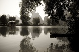 Yulong River  Yangshuo  China; Black and White Scenic of River