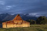 Sunrise on Old Wooden Barn on Farm  Moulton Barn