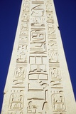 Obelisk of Tuthmosis Iii and Blue Sky  Close Up