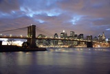 Brooklyn Bridge and Lower Manhattan at Dusk