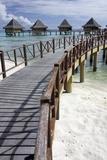 Walkway to Holiday Huts over Lagoon