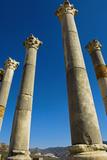 Column in Capitol in Ancient Roman City