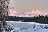 Winter Scenic of the Southside of Mt Mckinley as Seen from South of the Denali National Park