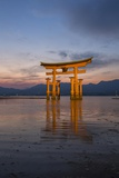 The 'Floating' Torii Gate of the Itsukushima Shinto Shrine  at High Tide