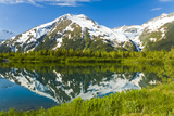 Scenic View of a Small Lake and the Chugach Mountains