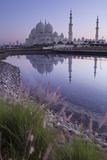 Sheikh Zayed Grand Mosque at Sunrise; Abu Dhabi  United Arab Emirates